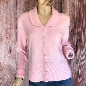 Dressbarn Pink Cardigan Sweater Large